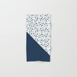 Indigo Triangles #society6 #pattern #indigo Hand & Bath Towel