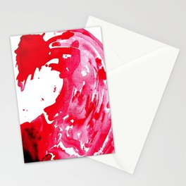 The One Who Came by Water and Blood. Watercolor Red Wave Stationery Cards