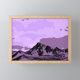 Chugach Mountains - EggPlant Pop Art Framed Mini Art Print