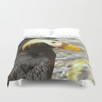 puffin Duvet Covers featuring Puffin... by Nature In Art...
