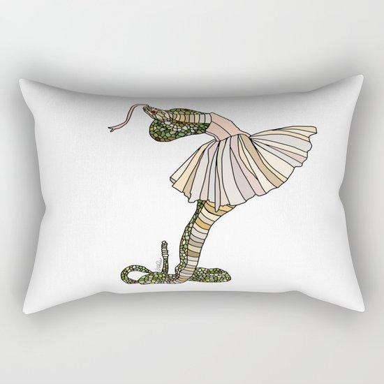 Snake Ballerina Tutu Rectangular Pillow
