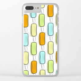 Ice Pop Pattern Clear iPhone Case