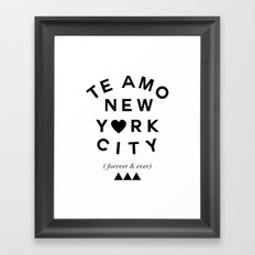 (EXTRA BOLD) TE AMO NEW YORK CITY (forever & ever) Framed Art Print