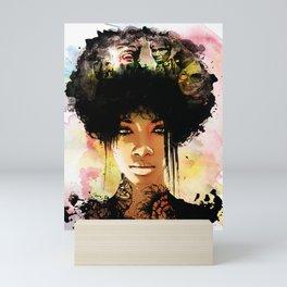 Woman In Color Mini Art Print
