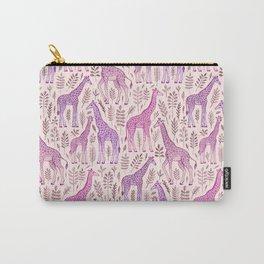 Pink Giraffe Pattern Carry-All Pouch