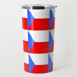 flag of Czech 3 -Czechia,Česko,Bohemia,Moravia, Silesia,Prague. Travel Mug