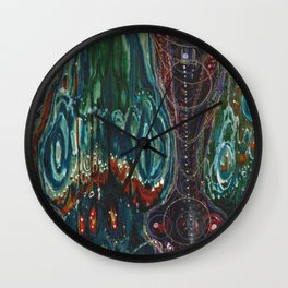 Pulse of Kelp (Sonic Sea Surge) Wall Clock