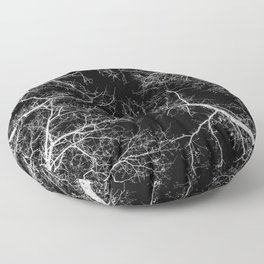 Black and white tree photography - Watercolor series #10 Floor Pillow