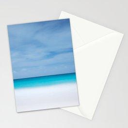 Tropical paradise beach turquoise sea ocean nature travel hipster Caribbean Fiji horizon photograph Stationery Cards