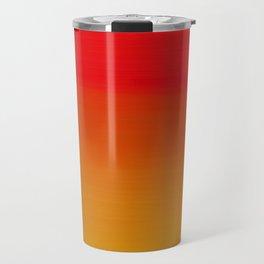 Red Apple and Golden Honey Ombre Sunset Travel Mug