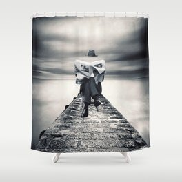Surreal news ... Shower Curtain