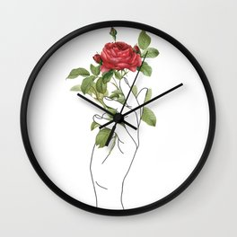 Flower in the Hand Wall Clock