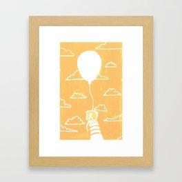 Cloudy Balloon Framed Art Print