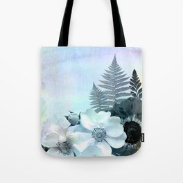 baby blue floral pattern Tote Bag