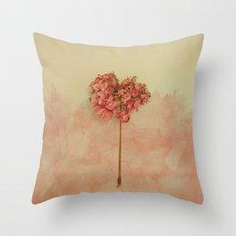 One Pink Geranium Throw Pillow