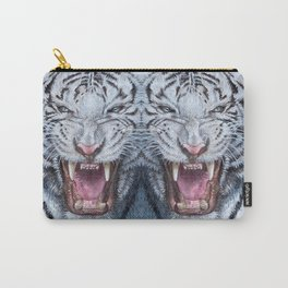 Double White tiger Carry-All Pouch