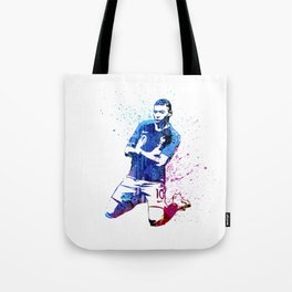 Sports art - France football player Tote Bag