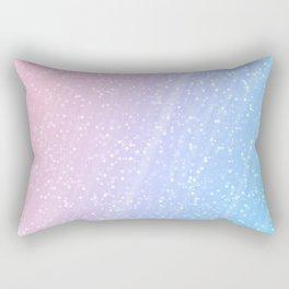 Light blue pink confetti glitter Rectangular Pillow
