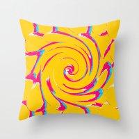 artsy Throw Pillows featuring artsy by vidikay