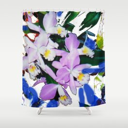 ORCHIDS that I love.                                         by Kay Lipton Shower Curtain