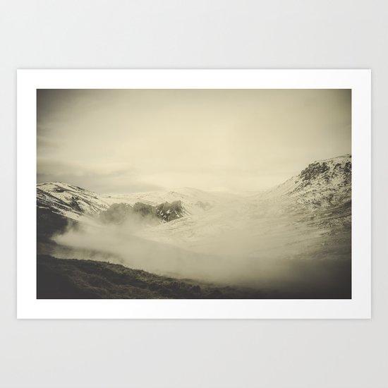 Hot River Valley Art Print