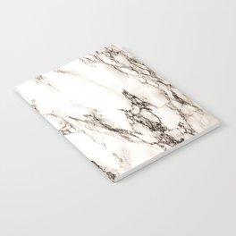 Brown Veined Marble Notebook