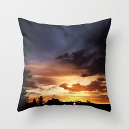 Edmonton Sunset 118 ave, 95 st. Throw Pillow