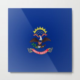 flag of north dakota,america,usa,midwest,dakotan, Roughrider,Flickertail,bismark,fargo,Peace Garden Metal Print