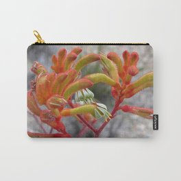 Orange Kangaroo Paw Flowers Carry-All Pouch