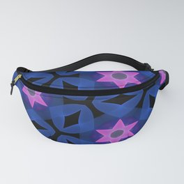 Six Pointed Pink Star on Indigo Fanny Pack