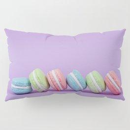 Row of Macaron Cookies Pillow Sham