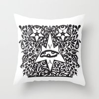 occult Throw Pillows featuring Occult  by Maelstrm