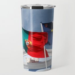Portugal and Azores flags Travel Mug
