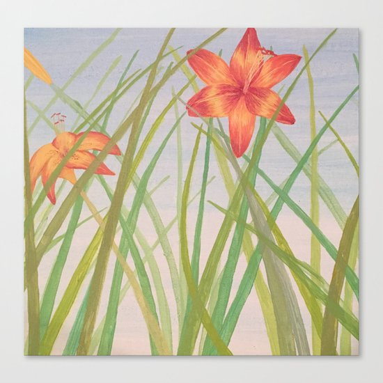 Lily Bloom Canvas Print