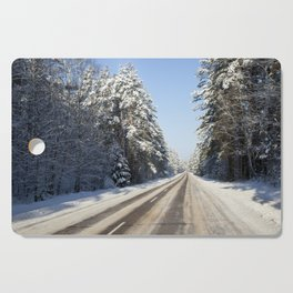 winter landscape Cutting Board
