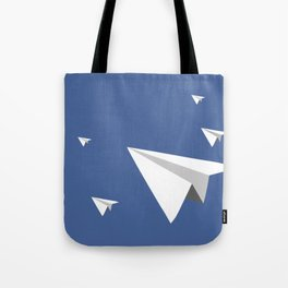 Paper Plane Fleet Tote Bag