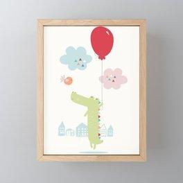 Curtis + the Red Balloon Framed Mini Art Print