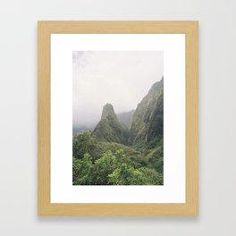 Iao Needle Valley Framed Art Print
