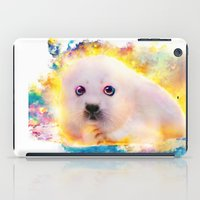 seal iPad Cases featuring  curious seal by ururuty
