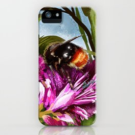 Bee on flower 9 iPhone Case