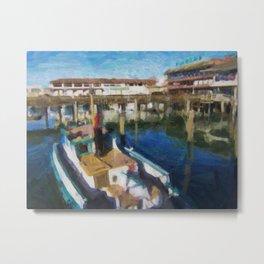 Fishermans Wharf - San Francisco Print No. 134 Metal Print