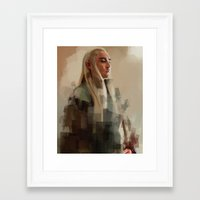 thranduil Framed Art Prints featuring Thranduil by Wisesnail