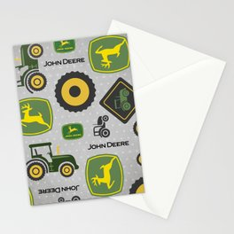 Farm Tractor - Green Stationery Cards