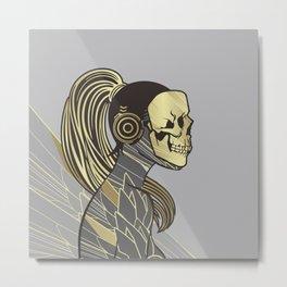 Skull Qween Metal Print