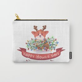 Disapproving Corgi Holiday Edition Carry-All Pouch