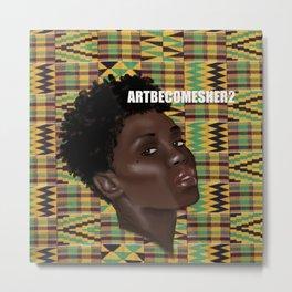 Poise - Asante Kente Cloth Print Metal Print