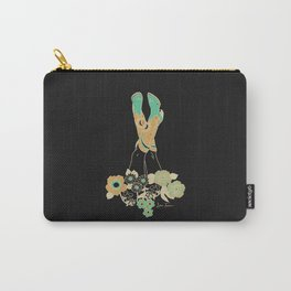 Love Stoned Cowboy Boots - Emerald, Cream, Black Carry-All Pouch