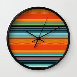 Mexican Stripes 2 Wall Clock
