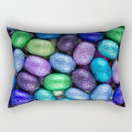 Blue, green and purple chocolate Easter eggs Rectangular Pillow