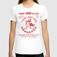 sriracha T-shirts featuring Foghorn Leghorn Sauce (Red) by Huemanitee